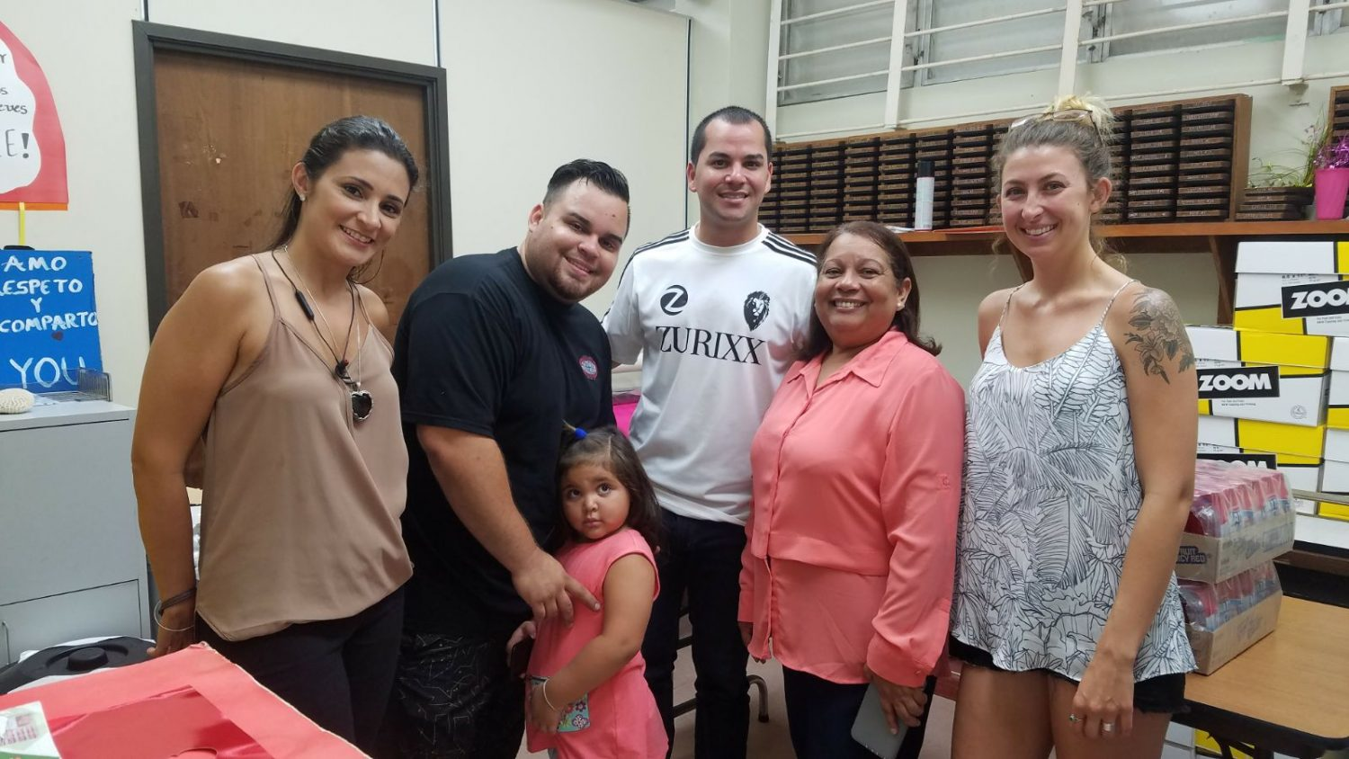 Zurixx Puerto Rico held a school supply fundraiser to collect school supplies to benefit the local elementary school in the area.